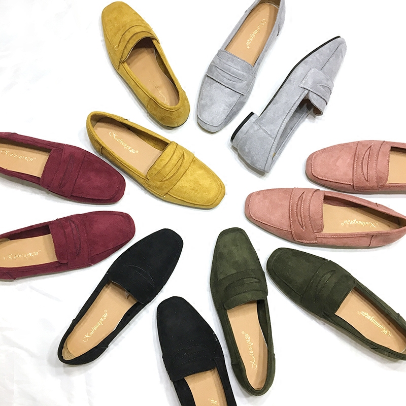 SLHJC Spring Shoes Women Flat Heel Round Toe Casual Comfort Flats Pregnant Loafers Slip Resistance Low Heels All Match  spring shoes women flat heel round toe casual comfort flats pregnant loafers slip resistance low heels all match