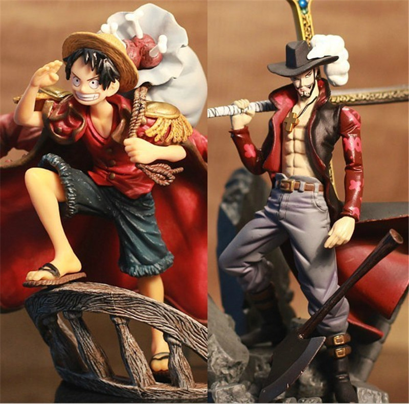 Toy Best-Gift Anime Hawkeye Luffy-Figure Action-16cm One-Piece Pvc 2-Dracule Colosseum