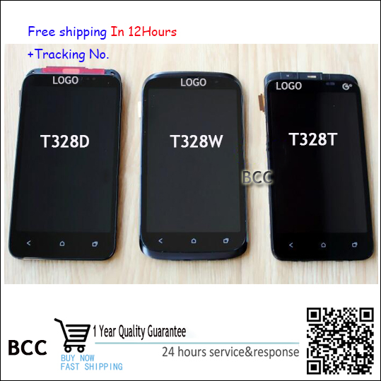 Original New LCD Display and Touch Screen Digitizer with frame For HTC desire V T328w T328D T328T Test ok+Free Tracking No. lcd screen display touch panel digitizer with frame for htc one m9 black or silver or gold free shipping