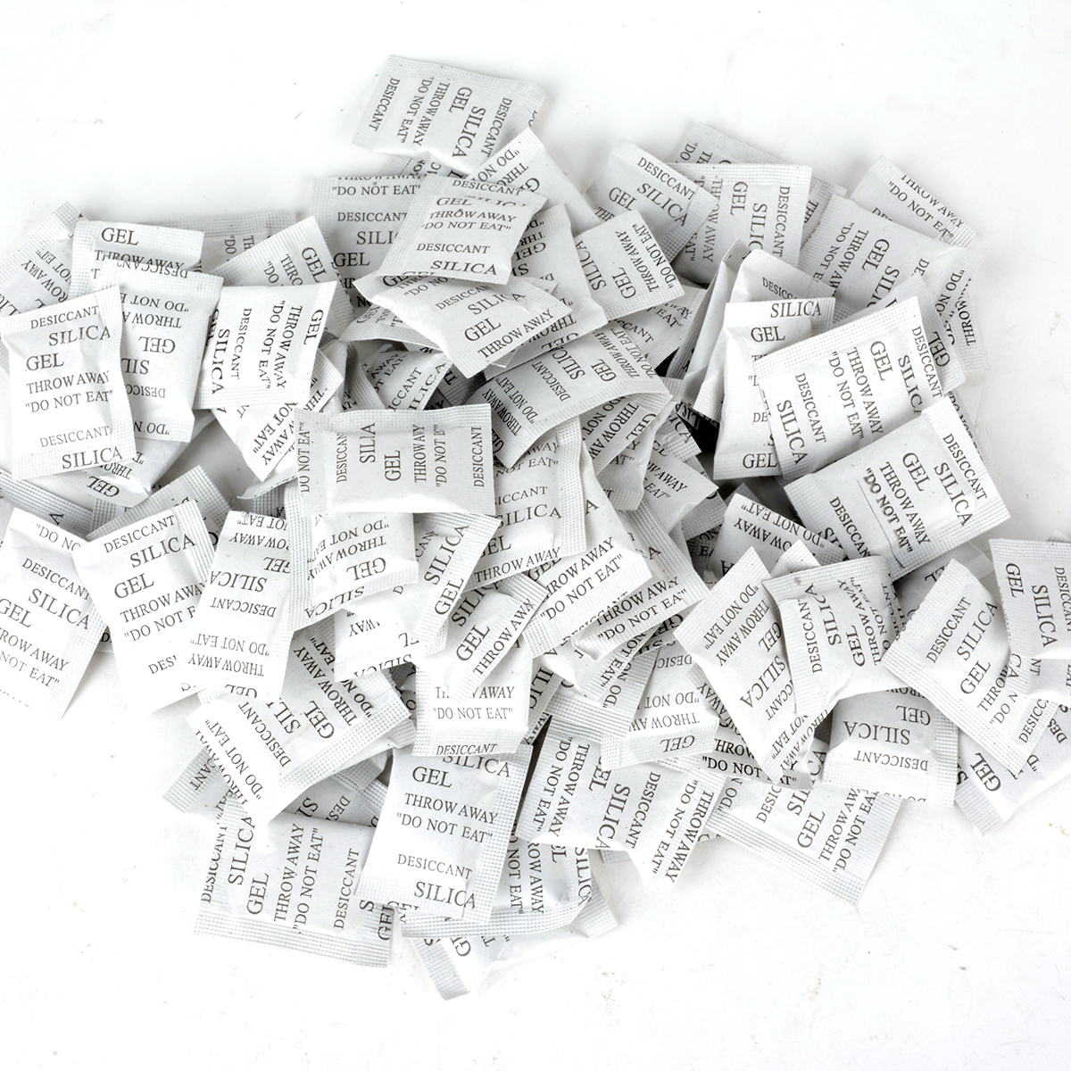 100 Packs Non-Toxic Silica Gel Desiccant Moisture Damp Absorber Dehumidifier For Collectibles Wrapped Food Kepping