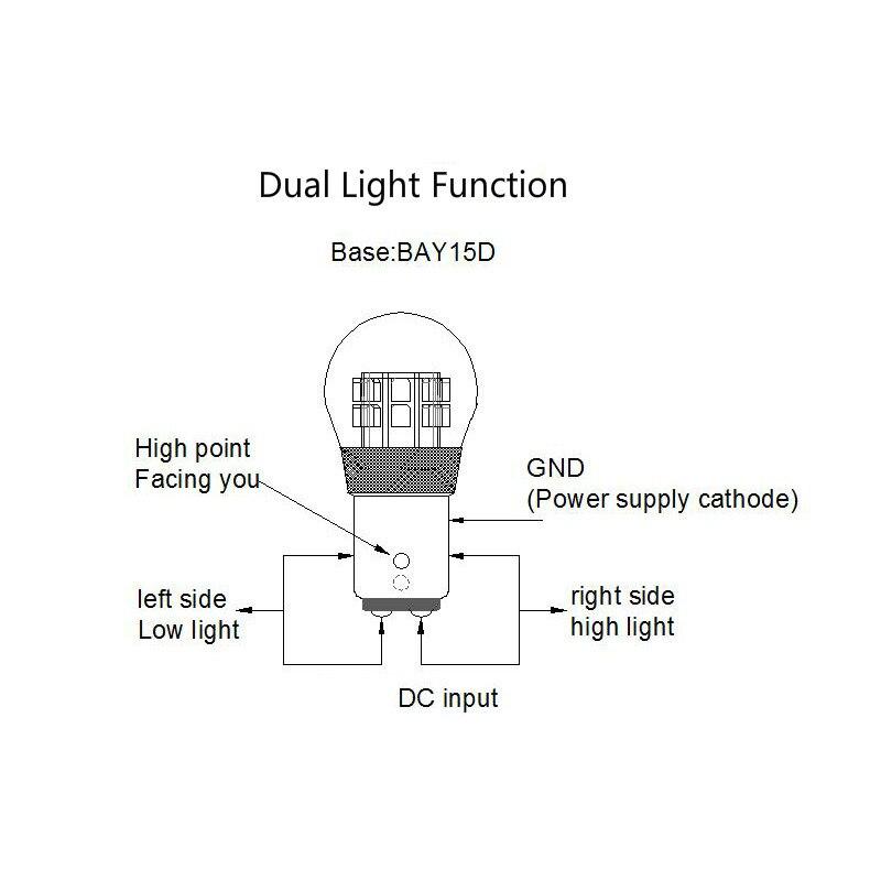 AMYWNTER 1156 лампасы P21W екі кернеулі 6V - Автокөлік шамдары - фото 3