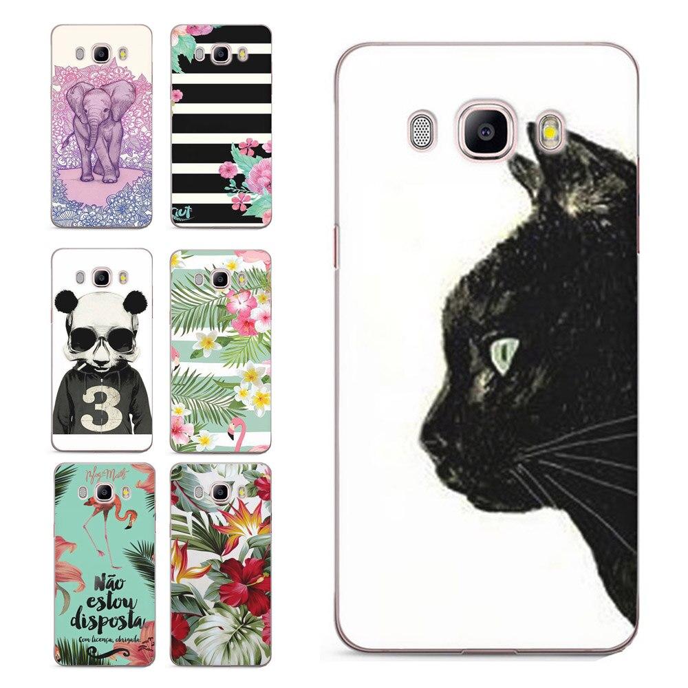 For Samsung Galaxy A3 A5 2016 2015 2017 prime J2 J3 J5 J7 TPU Colorful Soft Flora Cat pink Heart Painted Design Case Fundas C085