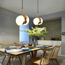 Nordic post modern Design simple pendant lamp milky glass lampshade ball E27 LED Suspension Lighting Fixture Hanging Lamp
