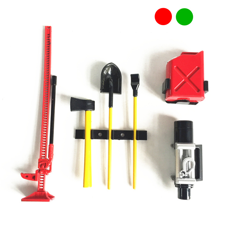 GWOLVES 4pcs/6pcs mini High simulation Tool Set For 1:10 Rock Crawler Axial SCX10 CC01 RC4WD D90 TF2 traxxas trx-4 RC Parts simulation mini golf course display toy set with golf club ball flag