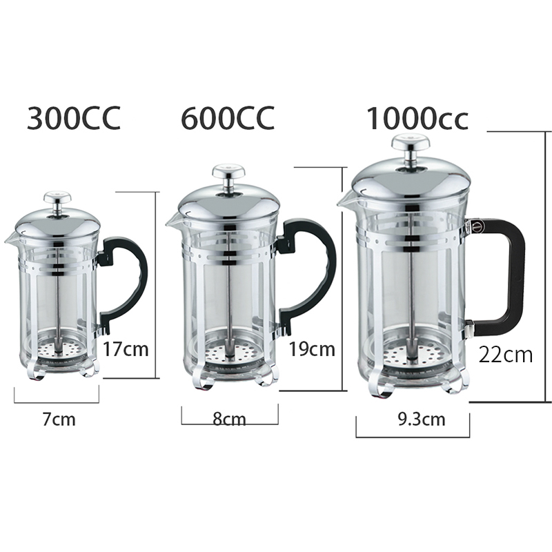 Pilih pembuat Kopi puer teh infuser teh oolong Ketel Kaca French Press green Tea Filter Strainer Espresso Coffee Kitchen