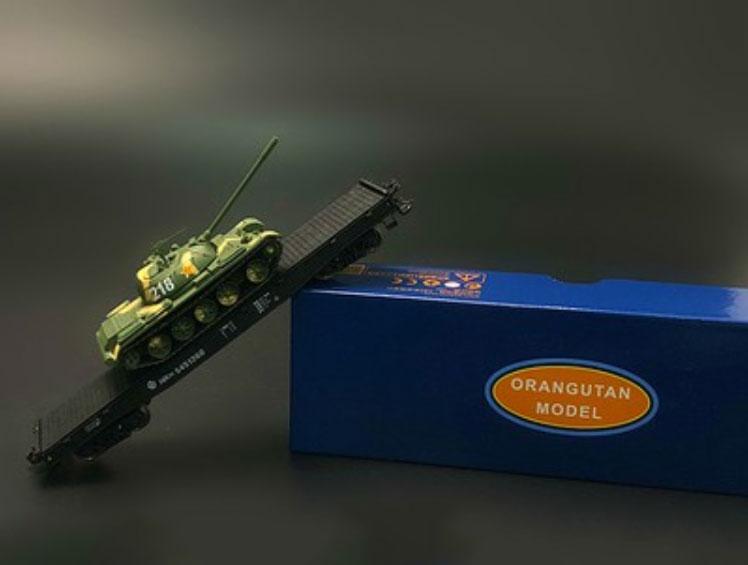 1 87 Ho Scale NX70 Flatbed Truck Plus 59 Main Battle Tank Model Set Model Exquisite