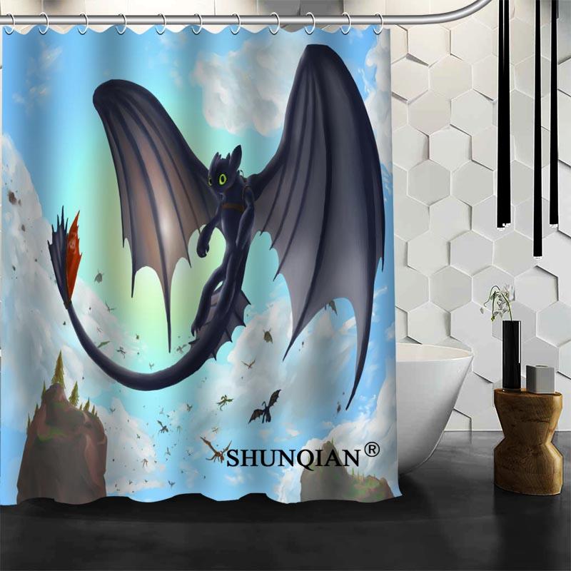 Custom how to train your dragon Shower Curtain bathroom Accessories ...