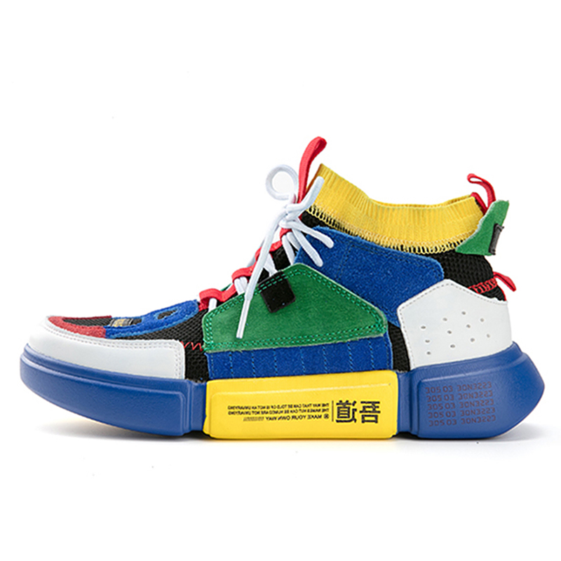 b0be78979 ADBOOV Brand Retro High Top Sneakers Men Mixed Colors Designer Shoes Men S  Casual Shoes Fashion Sock Skateboarding Shoes-in Men s Casual Shoes from  Shoes on ...