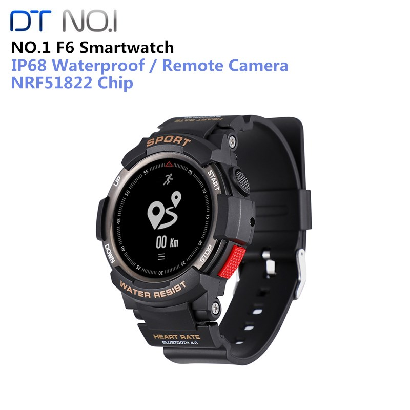 NO.1 F6 Smart Watch Phone NRF51822 Smartwatch GPS Watch For Men IP68 Sleep Monitor Remote Camera Wearable Devices Or IOS Android цена