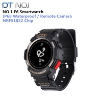 NO.1 F6 Smart Watch Phone NRF51822 Smartwatch GPS Watch For Men IP68 Sleep Monitor Remote Camera Wearable Devices Or IOS Android
