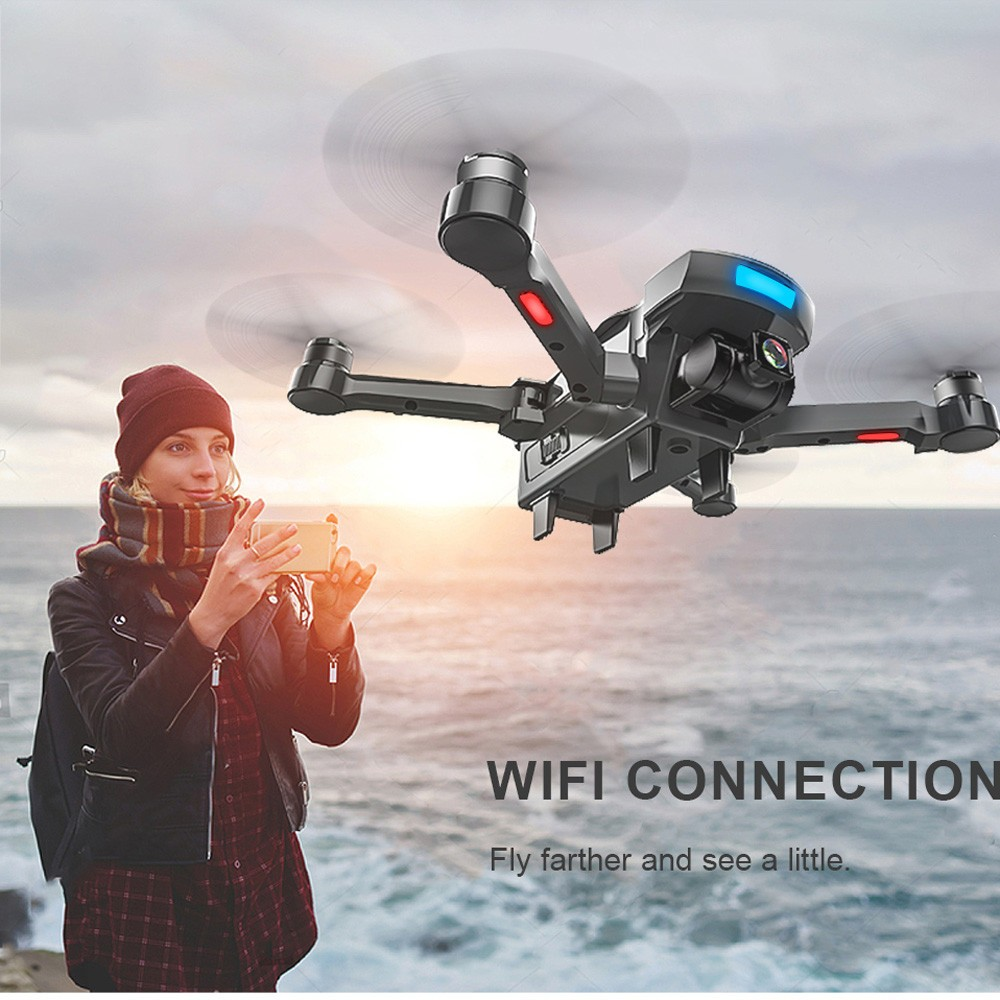 2018 GPS tracking surround folding Drone 1000M 20Mins Brushless gesture aerial shot 1080P HD Camera WiFi FPV RC Quadcopter