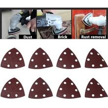 Abrasive Tools 25PC 90mm Delta Sander Sand Paper Hook & Loop Sandpaper Disc for Sanding Grit 40 320
