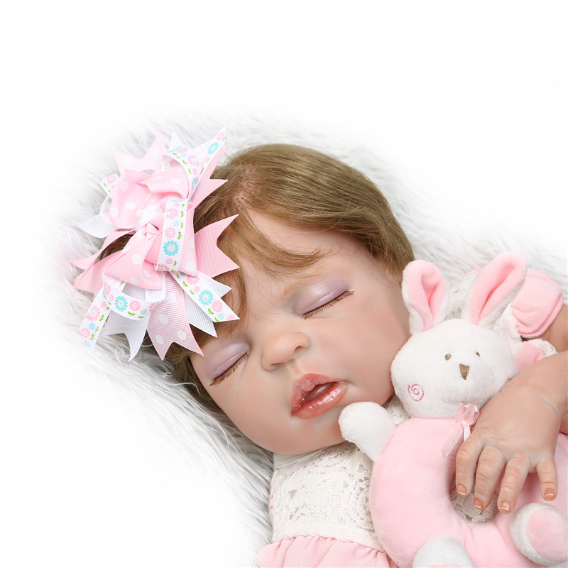 NPK dolls 55cm Full Silicone Body Reborn Baby Doll Toy For Girl gift bebe dolls corpo de silicone inteirolike real hair rootedNPK dolls 55cm Full Silicone Body Reborn Baby Doll Toy For Girl gift bebe dolls corpo de silicone inteirolike real hair rooted