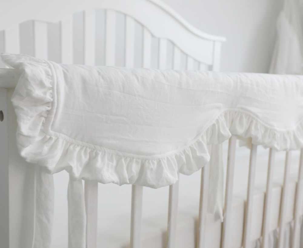 7Pcs Blush Coral Pink Ruffle Crib Bedding Set Baby Girl Bedding Blanket Nursery Crib Skirt Set Baby Girl Crib Bedding Sheet Blush Pink Including Bumper