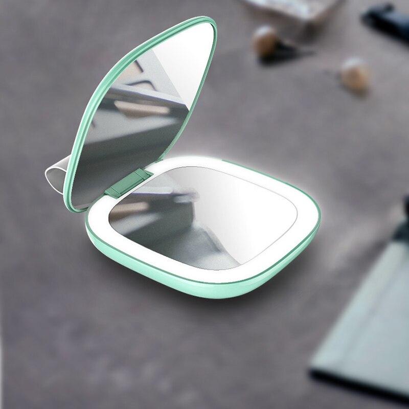 JE SUIS YUHANFEI 1 pc Mini Femmes Loupe Miroir de Maquillage Maquillage outil LED Lumineux Lumière Diffuse 130 Degrés de Rotation Maquillage Miroirs