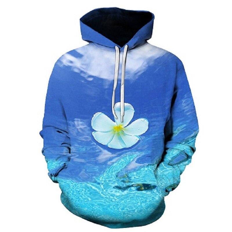 2018 3D Hoodies Men Hooded Sweatshirts rose 3D Print hoody Casual Pullovers Streetwear Tops Autumn Regular Hipster hip hop