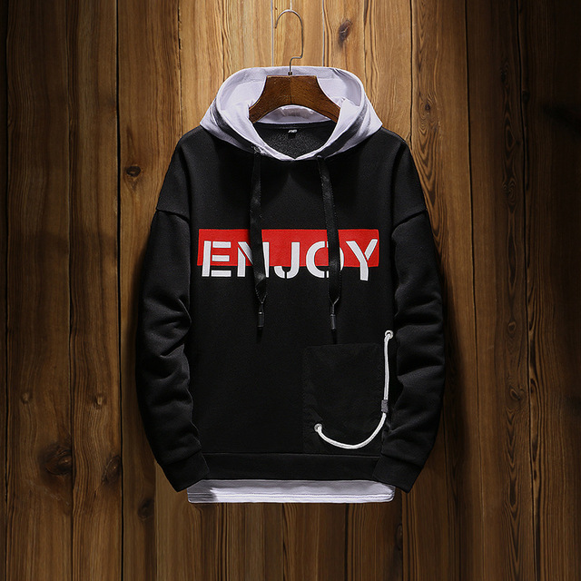 Casual Mens Sweatshirt New Long Sleeve Cotton Men Plus Size solid color hoodies