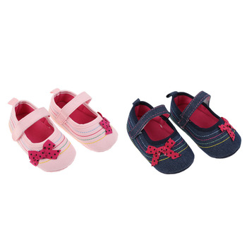 Baby Girl Shoes Denim Bowknot Baby Shoes Prewalker Walking Toddler Kids Shoes Soft Sole First Walkers