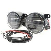 eeMrke Car Styling 2 in 1 LED Fog Light Lamp DRL With Lens Daytime Running Lights for Peugeot 206 207 307 308 407 607 4007 5008