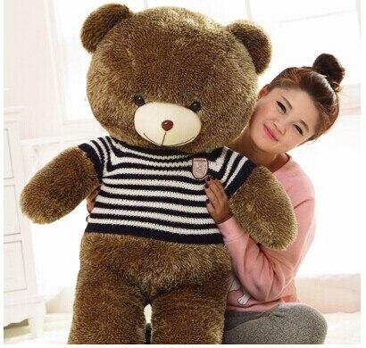 120cm teddy bear plush toy blue stripes sweater bear doll gift w4101 fancytrader biggest in the world pluch bear toys real jumbo 134 340cm huge giant plush stuffed bear 2 sizes ft90451