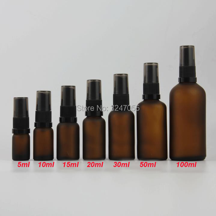 5/10/15/20/30/50/100ml Empty Frosted Brown Glass Spray Bottle, DIY Portable Matte Amber Vial Lotion Package, Emulsion Contaners 10ml 15ml 30ml 50ml 100ml empty glass perfume spray bottle diy elegant black glass lotion pump bottle empty emulsion container
