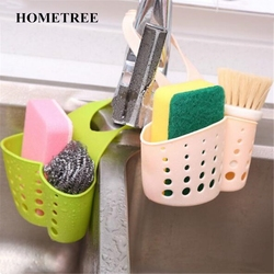 HOMETREE Portable Home Kitchen Hanging Drain Bag Basket Bath Storage Tool Sink Holder Escorredor Louca Soap Holder Bathroom H97