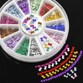 2015 3mm Multicolor 3D Bowknot Nail Art  Salon Stickers DIY Manicure Tips Decorations with  Wheel  51HP smt 101