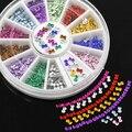2015 3mm Multicolor Bowknot 3D Nail Art Adesivos DIY Manicure do Salão de beleza Dicas de Decoração com Roda 51HP smt 101