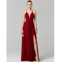TS Couture LINE декольте пол Длина шифоновое/Формальные платье Homecoming