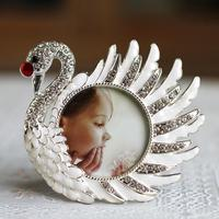2 Inch 3 Inch 4 Inch Swan Diamond Metal Frames Fotocall Baby Photo Photo Gift Table