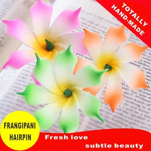 Image 3 - 50 Easter decoration New Fashion Foam Hawaiian  Artificial flowers girls hairpins barrette bride women hair accessories