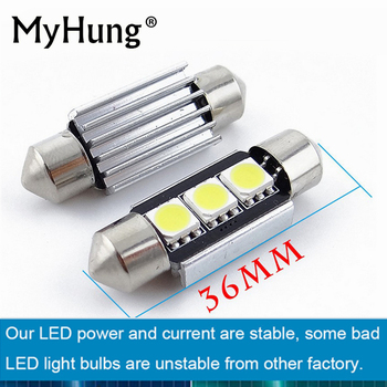 2XCar Styling Canbus LED Parking License Plate Lights 36MM C5W For BMW E46 E39 E90 E36 E60 For Audi A4 B5 B6 B8 A6 C5 A3 A5 Q5 image