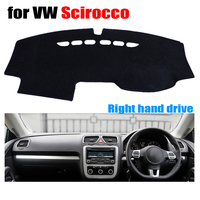 Ücretsiz kargo!!! Araba dashboard mat kapakları Volkswagen VW SCIROCCO için tüm yıl Sağ el sürücü
