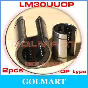 2 قطع 30 ملليمتر LM30UUOP المفتوحة الخطي تحمل LM30OP الخطي بوش الخطي motion تحمل 30*45*64 ملليمتر ل 30 ملليمتر رمح السكك الحديدية