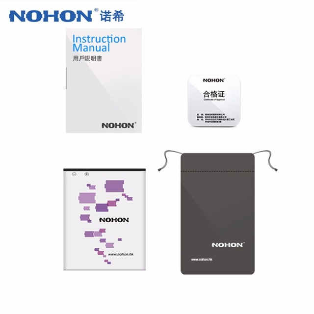 NOHON Repair Battery for Xiaomi for RedMi Note 2 Replacement Li-ion Battery 3060mAh Capacity with Waterproof Bag