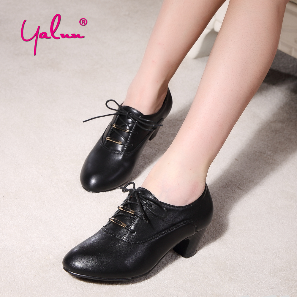 Black Leather Square heels Women Lace up Pumps Metal Decoration Round Toe Daily Office Career Shoes Woman High heel Large Size big size 11 12 elegant round toe lace up casual square heel women s shoes high heels pumps woman for women