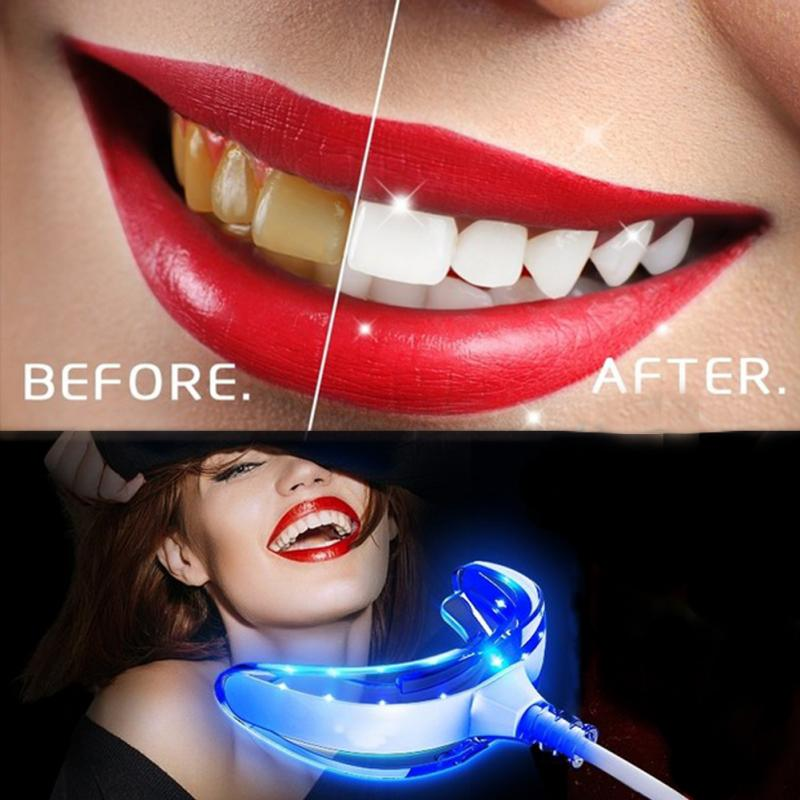 Home Teeth Whitening Light: Home Use Teeth Whitener Light Attachable Mouth Tray Tooth