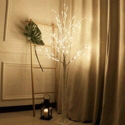LED Silber Birke Lampe Weihnachten Festival Moderne Dekoration Indoor Warm Weiß Urlaub Fee Licht 170cm EU Stecker Girlande