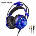 Sound Intone Gaming Headphone with Microphone Headset 3.5mm Stereo Game Headphone Earphone Glowing LED Light USB for PC Computer