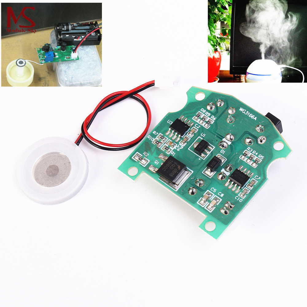 Ultrasonic Humidifier Frequency Khz What Is A Circuit Audio Circuits Nextgr 20mm 113khz Mist Maker Usb Ceramic Atomizer Transducer Humidified Plate Accessories Pcb Module D20mm