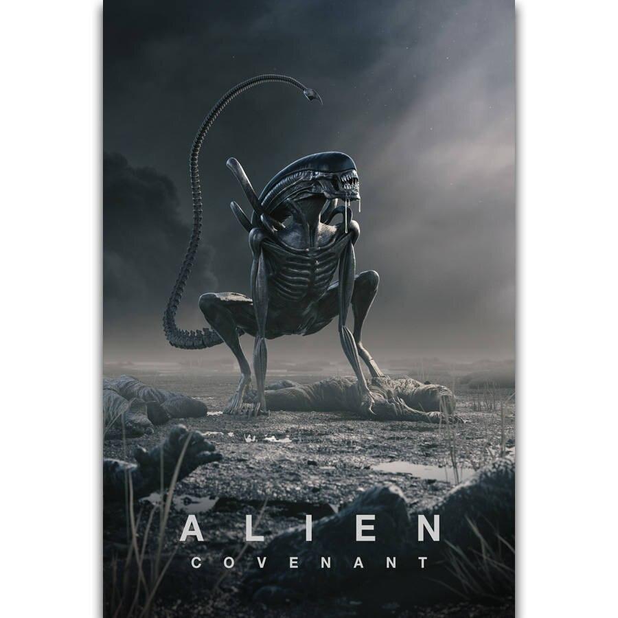 S1300 Alien covenent горячий ужас фильм Монстр космическая стена художественная Живопись Печать На шелковом холсте плакат украшение дома|Рисование и каллиграфия|   | АлиЭкспресс