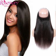 7A Brazilian Straight Frontal 360 Frontal Band Ear to Ear Lace Frontal Closure Full Lace 22*4*2 360  Handmade