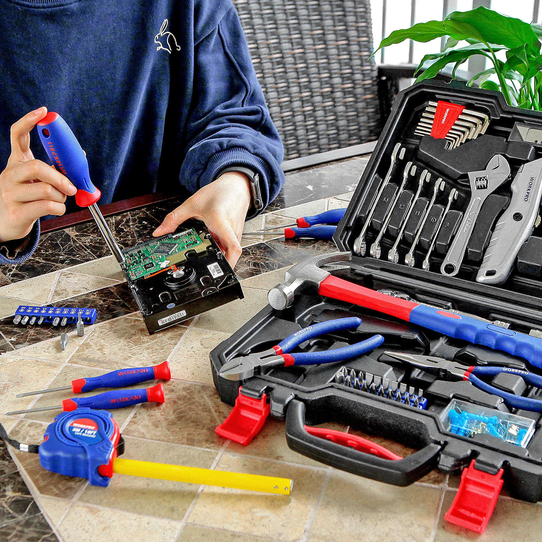 WORKPRO 160PC Tool Set 2019 New Home Tool Set Househould Tool Kits