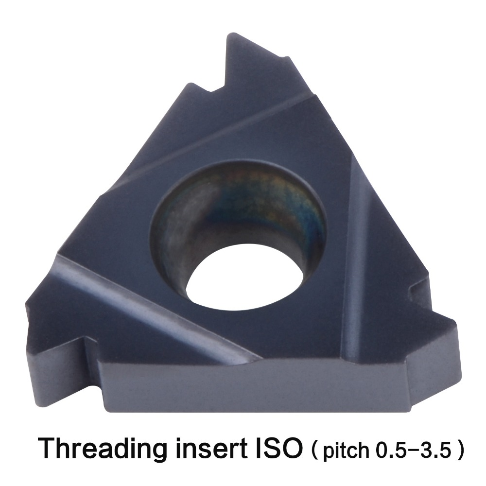 Купить с кэшбэком ISO thread 06IR 08IR 11IR 16IR 16ER pitch 0.5 -3.5mm internal and extenal threading insert General pitch lathe thread tool