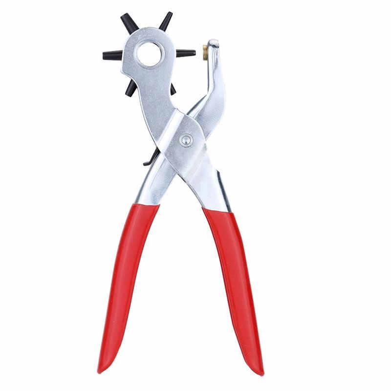 9 Inci Lubang Meninju Mesin Punch Plier Lubang Perforator Alat Membuat Lubang Puncher untuk Tali Kartu Gelang Jam Anak- dijual