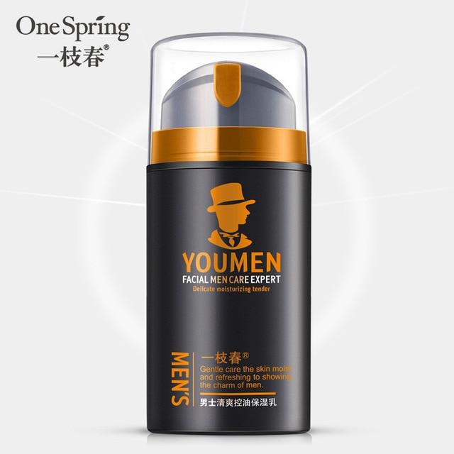 2018 OneSpring Men's Refreshing Control of Blackhead Oil Moisturizing Shrink Pores Moisturizing Milk skin care