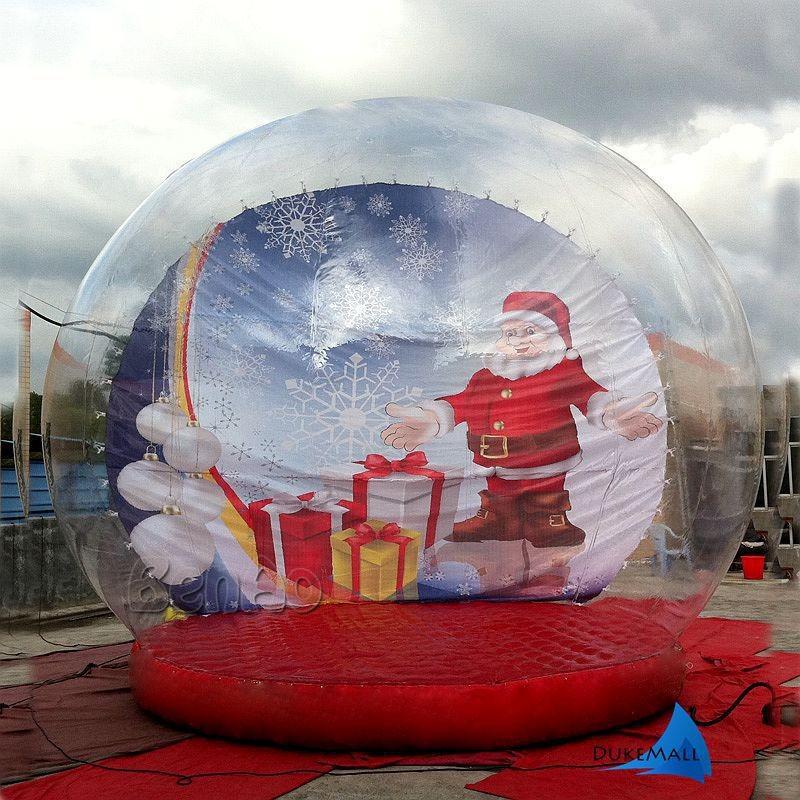X024  Giant-Snow-Globe-Christmas-Outdoor-Decoration-Advertisement-Inflatable-Snow-Globe-Santa-Claus-Theme_