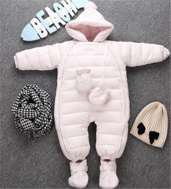2016 New Fashion Winter Infantil Baby Clothing Thicken Warm Newborn Bear Romper Cotton padded Overalls Toddler