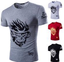 new men fashion 2016 summer style high quality men's tshirt cotton cartoon OWL animal printed T shirt new men brand tee 8806