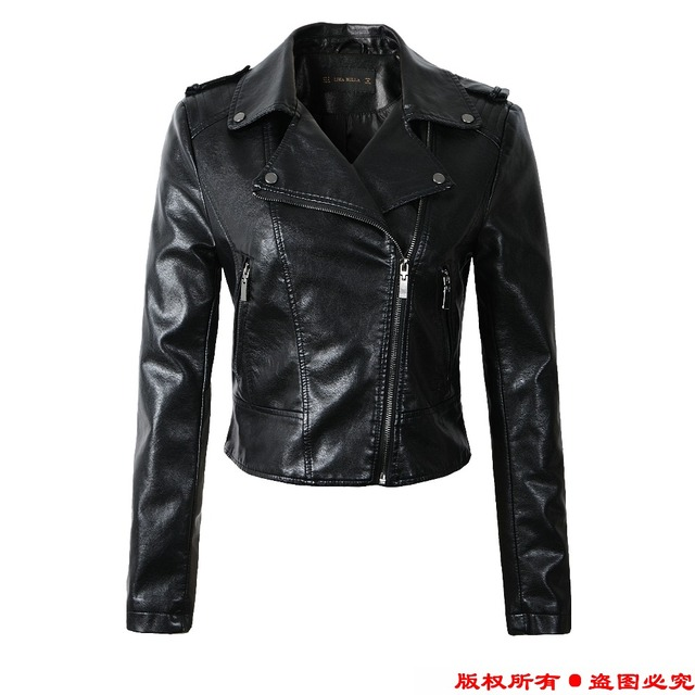 Leather Jacket Women Winter And Autumn New Fashion Coat 4 Color Zipper Outerwear jacket 2